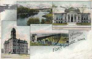 FORT DODGE, Iowa, 1900-10s; Greetings, 4-views