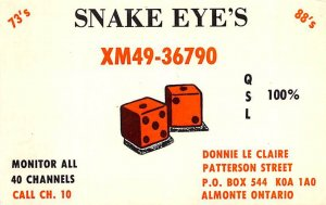 Snake Eye's Ontario Unused