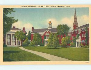 Unused Linen GYMNASIUM AT FAY RADCLIFFE COLLEGE Cambridge Massachusetts MA L9350