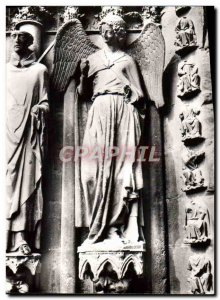 Modern Postcard Reims Notre Dame Cathedral North Portal An Angel