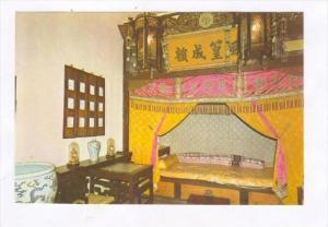 Summer Palace , Peking , China, 80-90s   Emperor Guangxu's Bedchamber