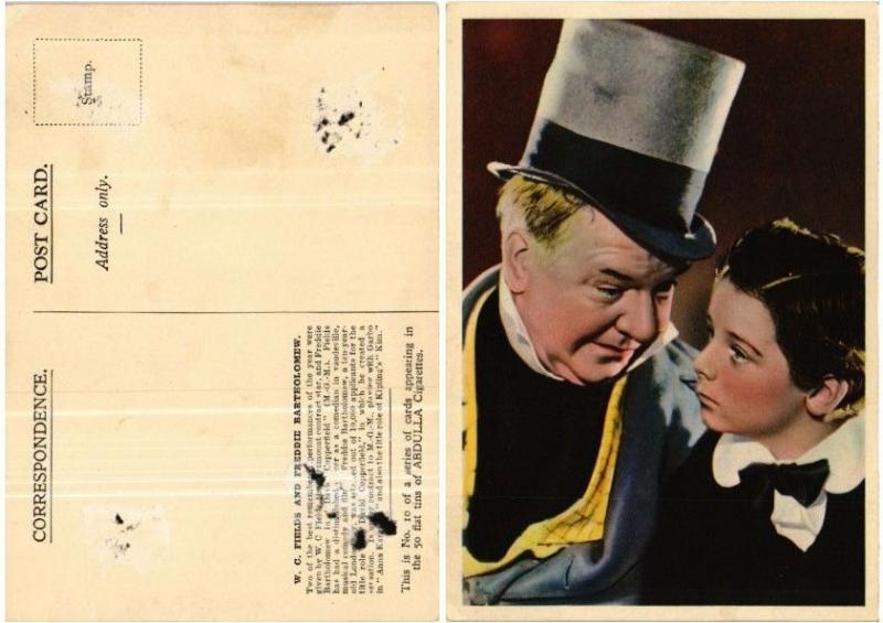 CPA W. C. Fields and Freddie Bartholomew FILM STAR (399082)