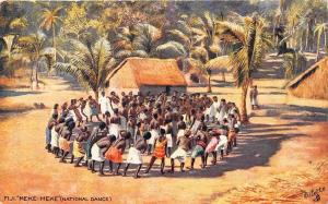 Fiji Islands Meke - Meke (National Dance) Raphael Tuck Postcard