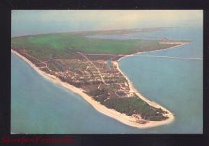 SANIBEL ISLAND FLORIDA AERIAL VIEW VINTAGE POSTCARD FLA.