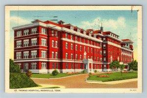 Nashville TN-Tennessee, St Thomas Hospital, Linen c1942 Postcard