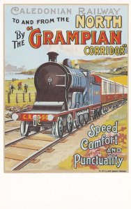 Caledonian North Railway Grampian Corridor Train Poster Postcard