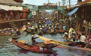 Thailand -  Rajburi Province. Floating Market