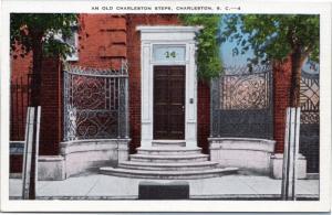 Steps to Mansion Door - Old Charleston Steps - home - stoop