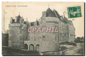 Old Postcard Chateau du Lude Overview