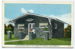 The Coal House Chamber of Commerce Middlesboro Kentucky postcard