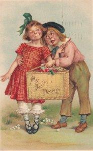 BRUNDAGE ; 2 kids , My Heart's Dearest , 1907 ; TUCK 109 ; Valentine Series