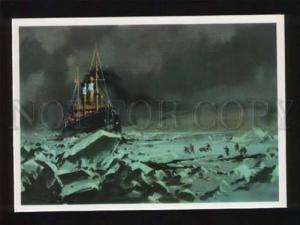 051868 North Pole Rescue dirigible balloon  Italy  Old PC