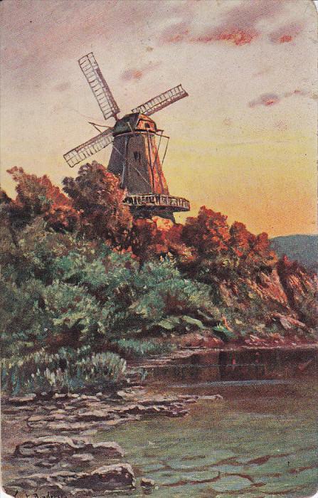 Art Postcard , Windmill , 00-10s #2