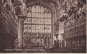 WINDSOR, Berkshire, England, PU-1953; Interior, St. George's Chapel, Windsor ...