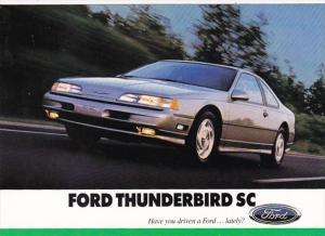 Advertising Ford Thunderbird SC