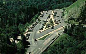 Postcard Areial View Newfound Gap Parking Lot Tennessee