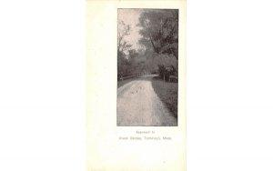 Approach to River Bridge Topsfield, Massachusetts Postcard