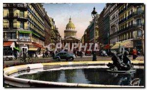 Old Postcard The Paris Soufflot Street and Pantheon
