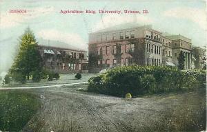 Agriculture Bldg, Univerisity, Urbana, IL, Illinois, 1910 Divided Back