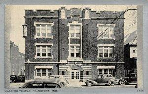 LP31 Frankfort Indiana Vintage Postcard Masonic Temple