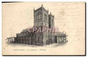 Postcard Old Saint Flour Cathedrale