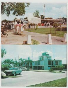 MALAYSIA LOT OF 2 airport Kuala Lumpur Tengku Abdul Rahman Park Postcard