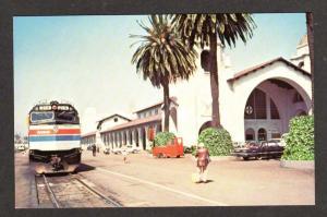 CA Amtrak Railroad Train Station Depot SAN DIEGO CALIF  California  Postcard