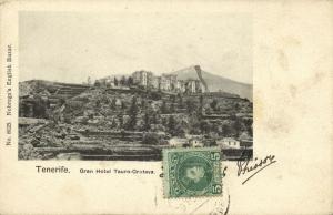 spain, TENERIFE, Canary Islands, Gran Hotel Tauro-Orotava (1906) Postcard