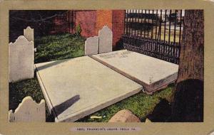 Benj Franklin's Grave Philadelphia Pennsylvania 1908