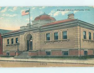 Divided Back LIBRARY SCENE Galipolis Ohio OH hs2803