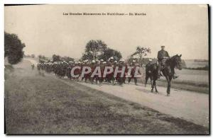 Old Postcard The Army maneuvers Northwest Running