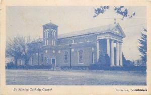 1930s St Monica Catholic Church Cameron Texas B&B Studio Milam postcard 10732