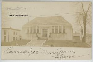 BELLEVUE, OHIO CARNEGIE PUBLIC LIBRARY-1907 RPPC REAL PHOTO POSTCARD