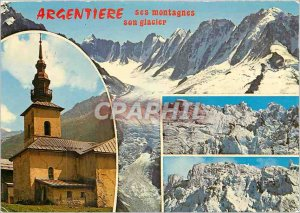 Modern Postcard At the Mont Blanc Haute Savoie Argentiere and its glacier