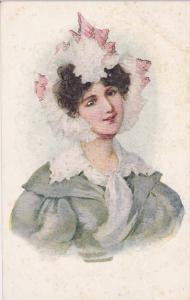 Portrait of Lovely woman wearing a bannet, 00-10s