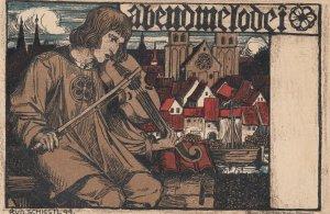 Germanic Art ; Man on a violin, 1899