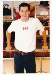 Tim Henman 2001 Kids At Heart T-Shirt London Charity Tennis Press Photo