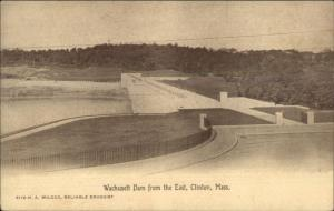Clinton MA Wachusett Dam c1910 Postcard #3