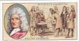 Mitchell Vintage Cigarette Card Famous Scots No 16 William Paterson 1658-1719