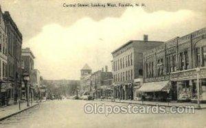 Central Street Franklin, NH, USA Postcard Post Cards Old Vintage Antique Unused