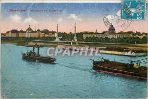 Old Postcard Dusseldorf Boat