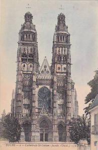 Cathedrale St-Gatien: Facade, Tours (Indre-et-Loire), France, 1900-1910s
