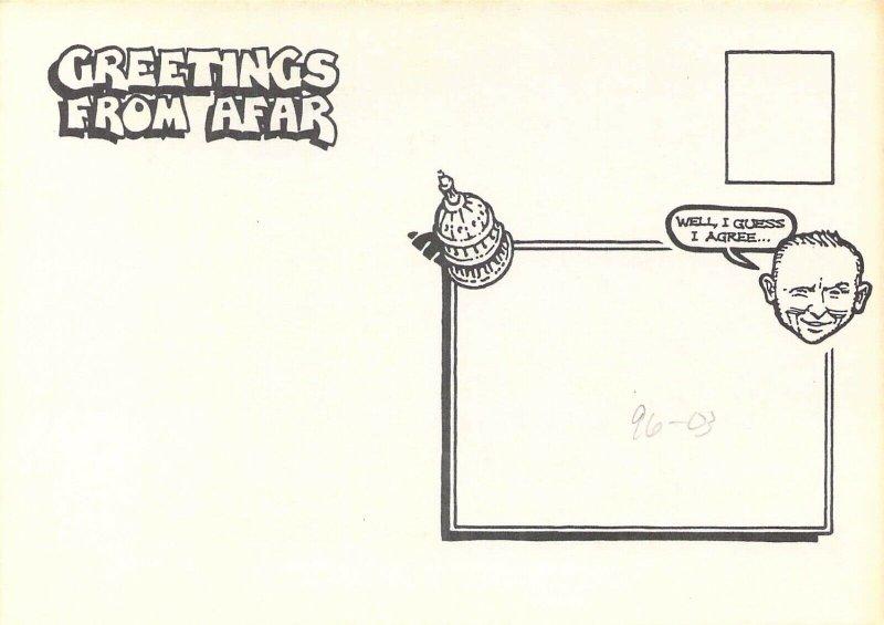 1996 Rick Geary Artist, Clinton, Gingrich, Dole,  NPCW Signed Postcard