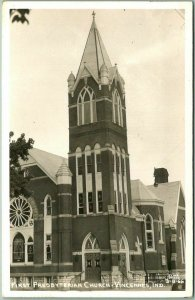 Vincennes, Indiana RPPC Postcard First Presbyterian Church Cline Photo Unused