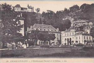 France Uriage Les Bains L'Etablissement et le Chateau