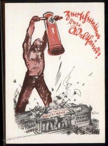 3rd Reich Germany Anti-Semitic Smashing High Finance Mjoelnir Propaganda C 93523