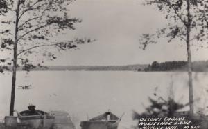 RP, MINONG, Wisconsin, 1930-1940s; Olson's Cabins, Horseshoe Lake