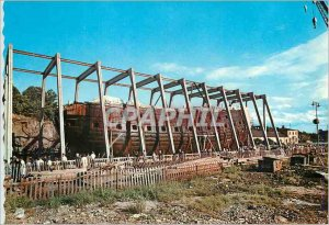 Postcard The Modern Warship Vasa in the Dry Dock Boat