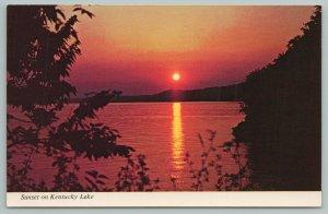 Kentucky~Sunset On Kentucky Lake~Vintage Postcard
