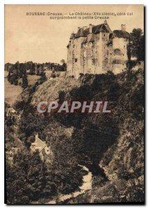 Postcard Old Boussac Creause Chateau East coast surpionbant small Creause